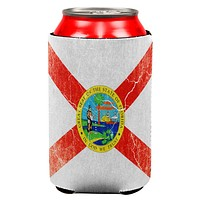 Florida Vintage Distressed State Flag All Over Can Cooler