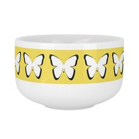 Soup Mug with butterflies