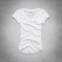 solid short sleeve v-neck tee