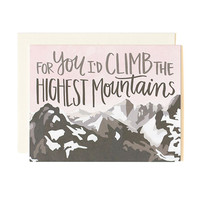 Mountains Love Card