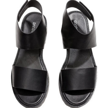 H&M - Chunky-sole Sandals - Black - Ladies