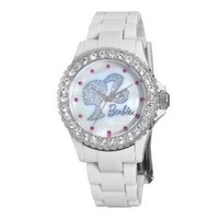 Armitron Women's 3500016 Crystal Accented Silver-Tone Barbie Themed Dial Dress Watch