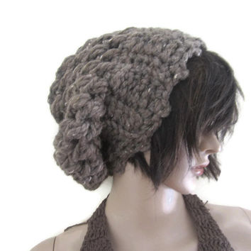 f691bf185b7 Shop Crochet Ribbed Slouchy Beanie on Wanelo