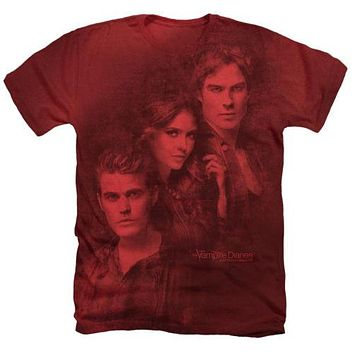 The Vampire Diaries Love Sucks Heathered T-Shirt