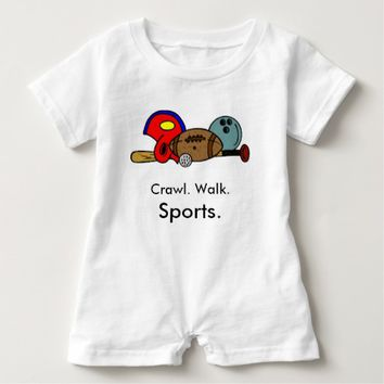 Crawl Walk Sports Baby Romper