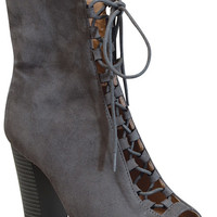Brenna Booties - Grey