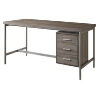 Monarch Specialties Hollow Core and Metal Computer Desk