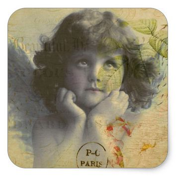 French Postcard Sticker