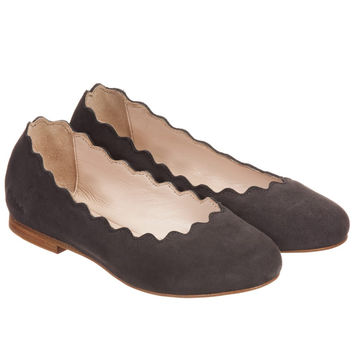 Chloe Girls Suede Slip-On Shoes (Mini-Me)