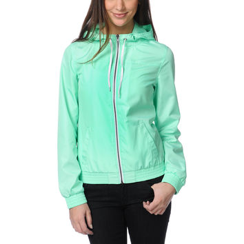Zine Girls Neon Mint Windbreaker Jacket at Zumiez : PDP