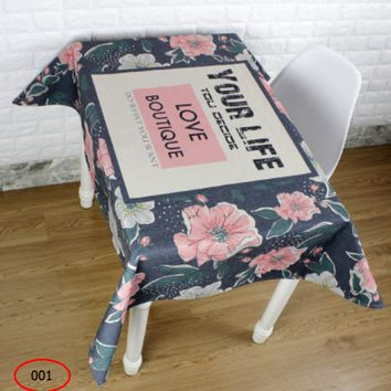 Rural small beauty simple table cloth