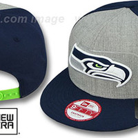 mobile product - Seahawks HEATHER-REFLECT SNAPBACK Grey-Navy Hat