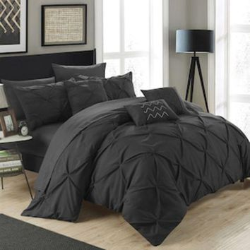 LMF7GX Chic Home Hannah 10-piece Bedding Set | null