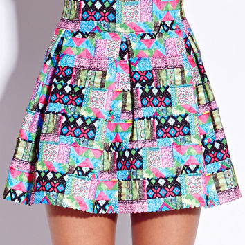Neon Dreams Bandage Skirt
