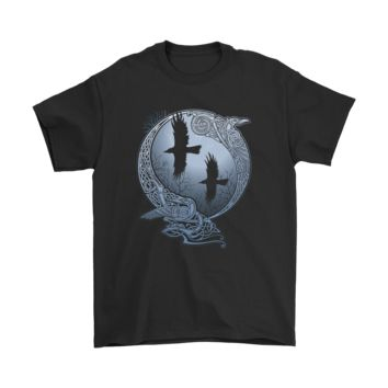 PEAPCV3 Mythology Odin Black Ravens Huginn and Muninn Shirts
