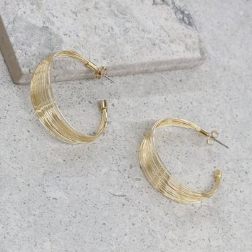 First Class Hoops in Gold