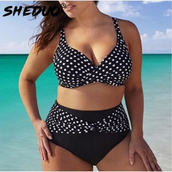 Plus Size Swimwear Brazilian Women Bikinis Set Bodysuit Print Bathing Suit Bow Tied Swimsuit Biquini Swimming Suit Patchwork