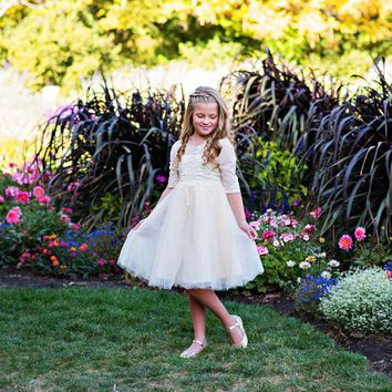 Ivory Gwendolyn Dress - Toddler, Girls & Juniors