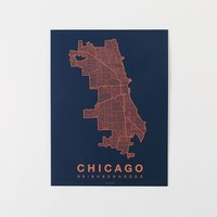 Native Maps - Chicago Print