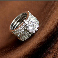 Stylish Jewelry New Arrival Shiny Gift Korean 925 Silver Ring [4989649732]
