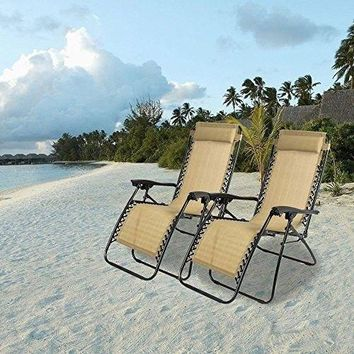 Outdoor Reclining Lounge Chair Case Patio Beach Yard Garden Reclining Chair