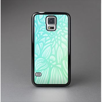 The Faded Blue & Green Subtle Floral Skin-Sert Case for the Samsung Galaxy S5
