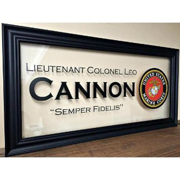 Military Gifts,US Marines frames,Custom Family Gift Hand Made By Veterans