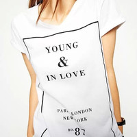 Letter Print Short-Sleeve Shirt