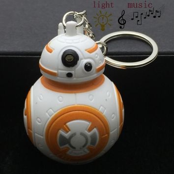 New Star Wars The Force Awakens Bb8 Bb-8 R2D2 Droid Robot Led Keychain