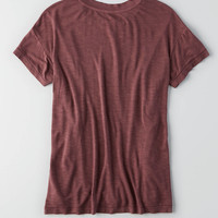 AEO Soft & Sexy Crew Favorite T-Shirt , Wine