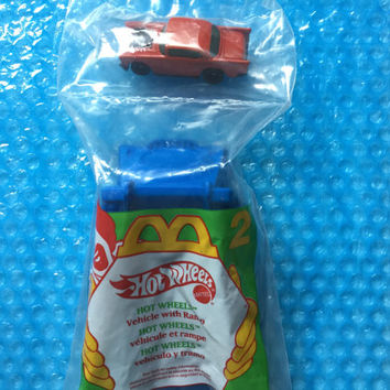1995 Hot Wheels Car + Ramp! Chevy! Fun! Brand New & Factory Sealed! McDonald's Exclusive Vintage Toy Retro Great Gift