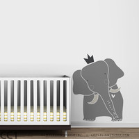 King Elephant Nursery Wall Decal Baby Zoo