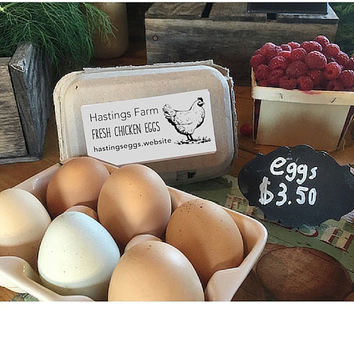 Large Egg Carton Stamp - Fresh Eggs Chicken Stamp - Chicken Lover Gift  - Farm Fresh Eggs Tag - Coop Eggs Stamp - Housewarming Gift Idea