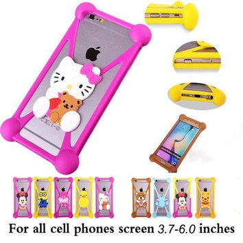 NEW Cute Cartoon Minions hello kitty Batman Stitch Silicon Cover Cases For Doogee Y6 Shoot 1 Y300 T3 Y100 Plus X9 Pro phone case