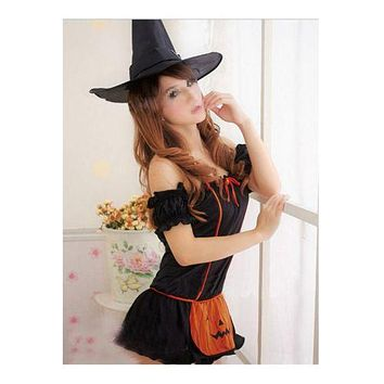 Witch Halloween Costumes Sexy Uniform Temptation Underwear Demon