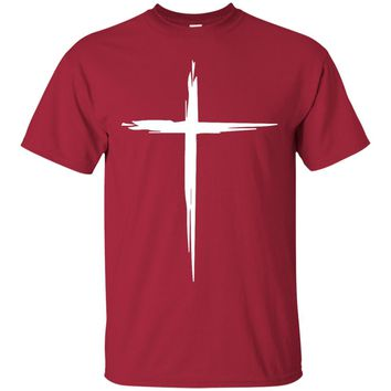 White Cross - Christian T-Shirt