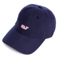 Vineyard Vines Signature Whale Logo Baseball Hat- Vineyard Navy