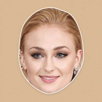 Happy Sophie Turner Mask - Perfect for Halloween, Costume Party Mask, Masquerades, Parties, Festivals, Concerts - Jumbo Size Waterproof Laminated Mask