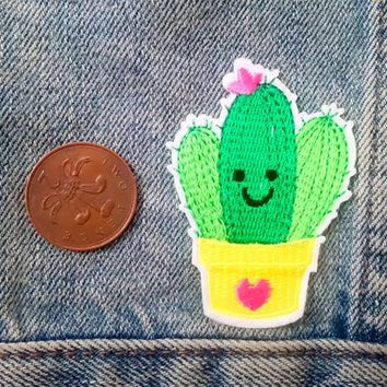 Cactus patch, cacti patch, iron on patch,cute patch, jacket patch, cacti lover, denim patch