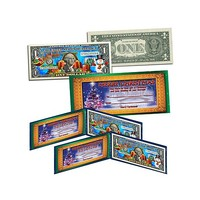 Set of 2 Christmas-Themed Colorized $1 Bank Notes at HSN.com