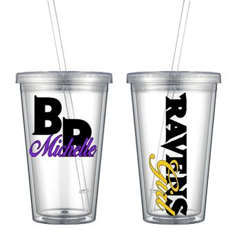 Ravens Acrylic Personalized Tumbler - Perfect Gift - Free Shipping