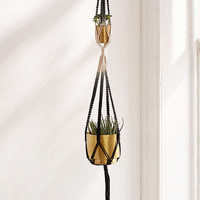 Serena Ombre Macrame Double Hanging Planter - Urban Outfitters
