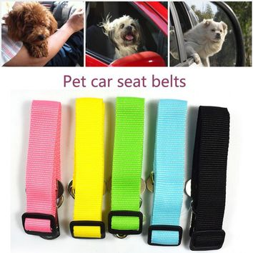 Adjustable Dog Pet Car Safety Seat Belt Restraint Lead Travel Leash