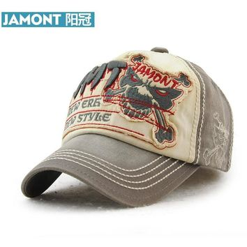 Trendy Winter Jacket [JAMONT] Branded Baseball Cap Men's Women's Cotton Snapback Hat Hip Hop Skeleton Skull Styling Bone Fashion Caps Casquette AT_92_12