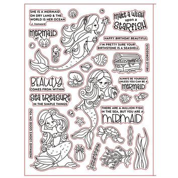 Beauty Mermaid Clear Stamps Seal for Scrapbooking Decorative Cards Making Album Paper Crafts Supplies Transparent Stamp 6*8 inch