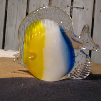 Beautiful Decorative Glass Fish, Possibly Murano Glass,