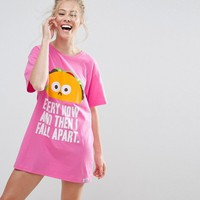 ASOS Every Now and Then I Fall Apart Sleep Tee at asos.com
