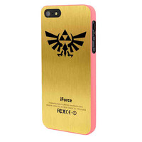 Zelda Force Logo On Gold Iforce iPhone 5 Case Framed Pink