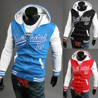 Men Hoodies Alphabet Print Hats Zippers Hot Sale Casual Jacket [6528674755]