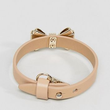 Ted Baker Curved Bow Leather Bracelet at asos.com